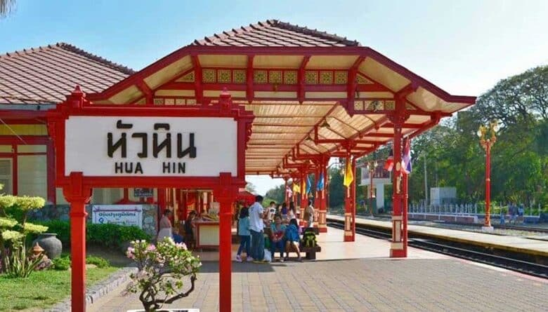 Hua Hin rail station draws Chinese tourists. Hua Hin Railway Station in the southern Thai coastal province of Prachuap Khiri Khan is now