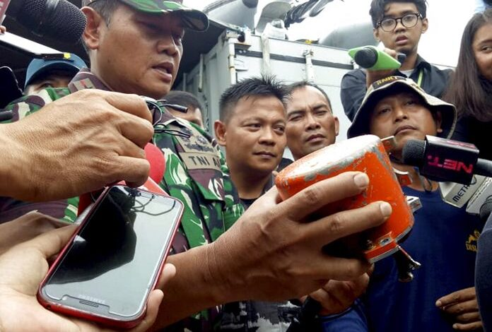 Indonesia recovers Lion Air jet's cockpit voice recorder. Navy divers have recovered the cockpit voice recorder of a Lion Air jet that crashed into the Java