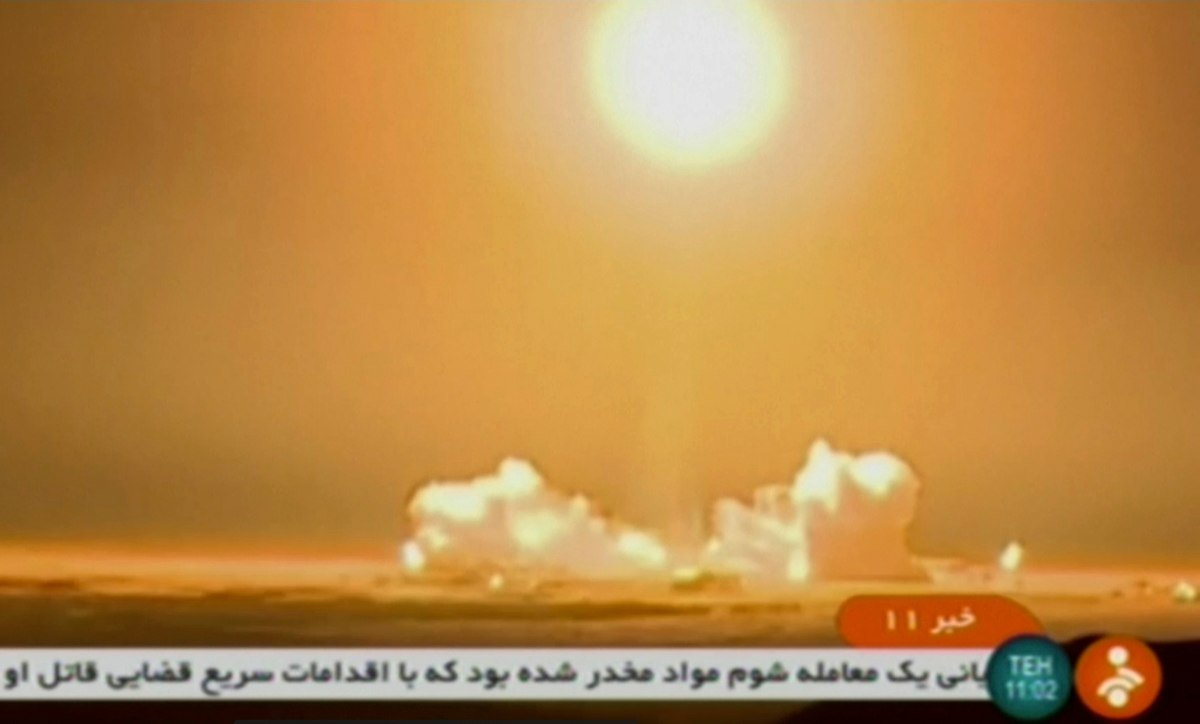 Iran satellite fails to reach orbit: state TV. Iran launched a satellite criticised by the US Tuesday but it failed to reach orbit, state TV quoted Iran