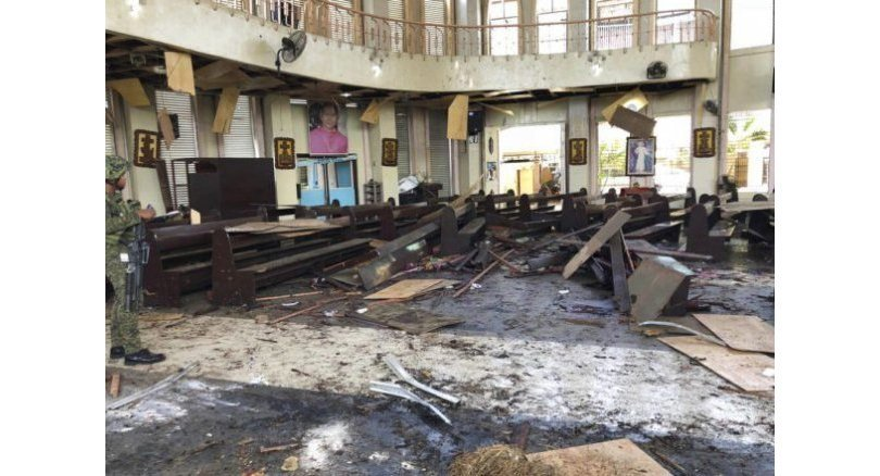 Jolo twin blasts death toll reaches 20, with 81 others injured. The death toll in two explosions that hit a Roman Catholic cathedral in Jolo, Sulu on .