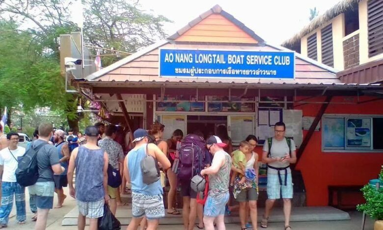 Koh Phi Phi travellers stranded for at least two days. Officials have cancelled all ferry services to and from Koh Phi Phi island from Friday as a