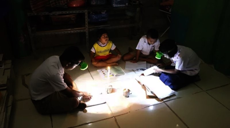 Living without electricity. Nine families in the southern Thai province of Trang are calling for help after have been living withou