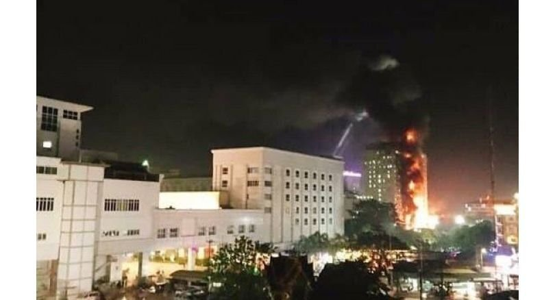 Poipet casino in flames, gamblers evacuated through thick smoke. At least 10 people, mostly Chinese, were wounded during a big fire at an 18floor casino