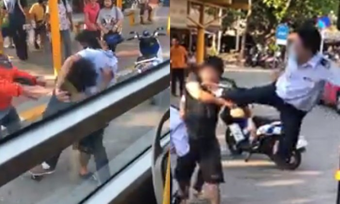 Public Bus driver fights citizen on the road. There was avideoposted online that spread like wildfire through Thai social media users. The video shows