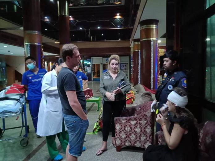 Russian Tourist falls through roof of Pattaya hotel lobby after drunken stunt. A 27 year old Russian National, Ms. Natalya Tarasyuk, plunged through the