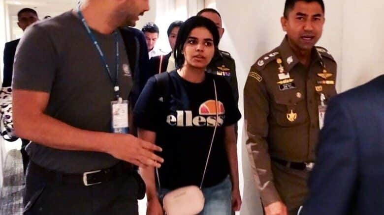 Saudi Arabian teen refuses to meet her father. The 18-year-old who fled her family in Saudi Arabia is refusing to meet her father, Immigration police chief