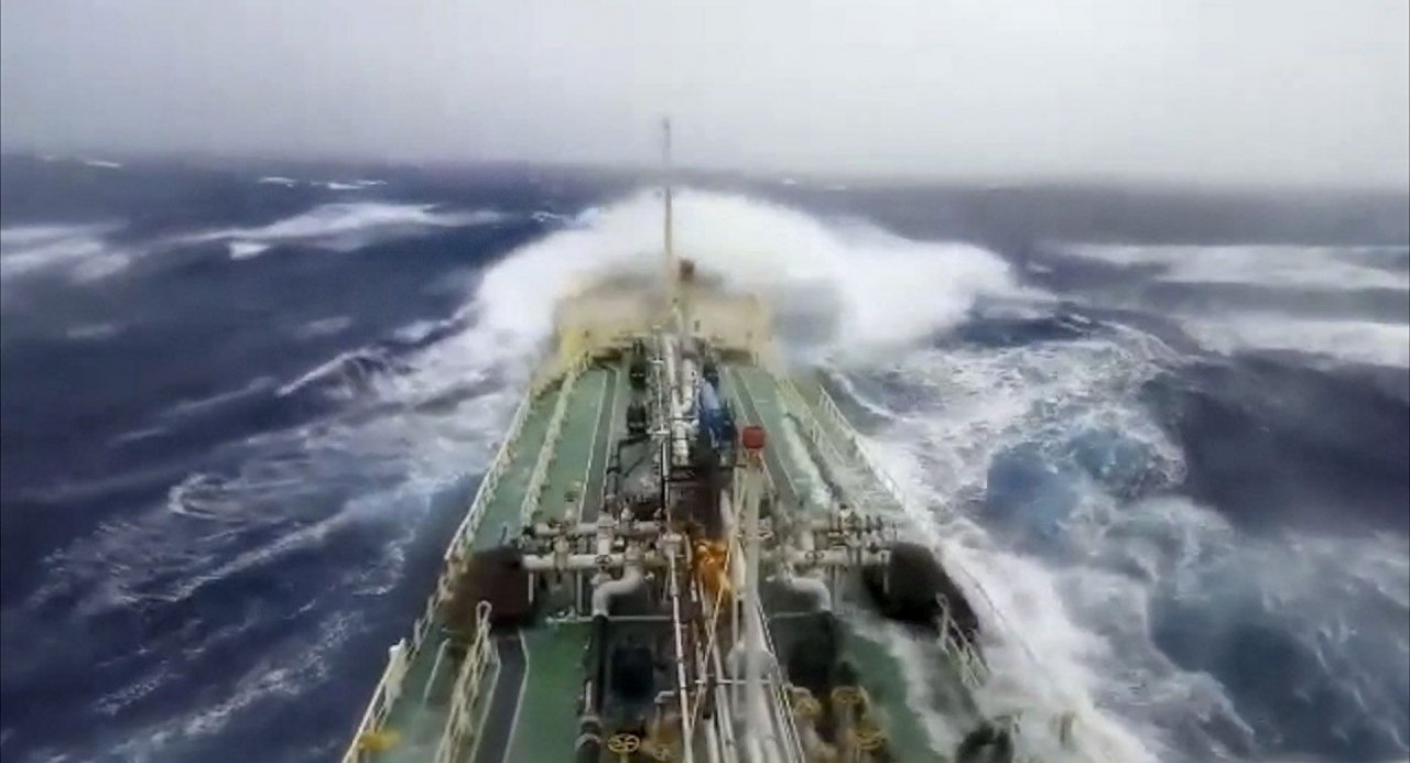 Thai oil ship battles Pabuk off southern Vietnam. A Thai ship carrying palm oil has been battling with Tropical Storm Pabuk off the coast of southern