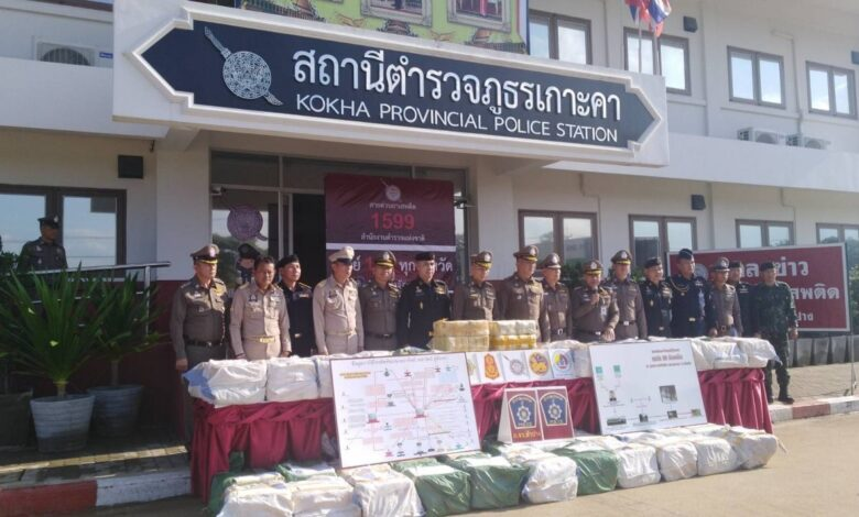 Truck stopped in Lampang hauling 10 million meth pills. The driver of an 18-wheel trailer truck was arrested at a checkpoint in Lampang early Wednesday