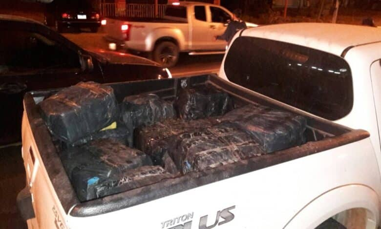 Two arrested, 3.7 million meth pills seized in Mukdahan. Navy troops chased down a pickup truck on a road in Muang Mukdahan on Sunday night and