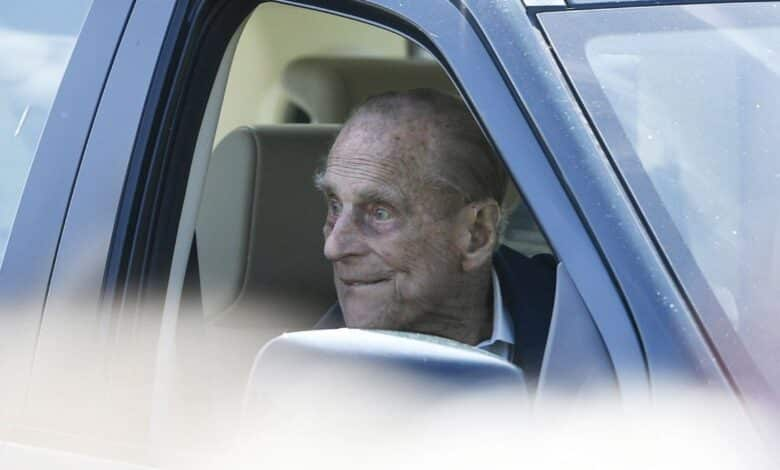UK's Prince Philip, 97, back driving - without seatbelt. Britain's Prince Philip has been spoken to by the police for driving without a seatbelt -- just two
