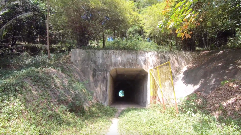 100 meter tunnel with the unknown owner – Koh Samui. A tunnel was found in Koh Samui made from a strong metal structure with concrete and fence, the