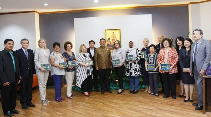 9 embassies visit Pattaya. Diplomats from nine countries called on Pattaya's mayor to meet with the city's business leaders.