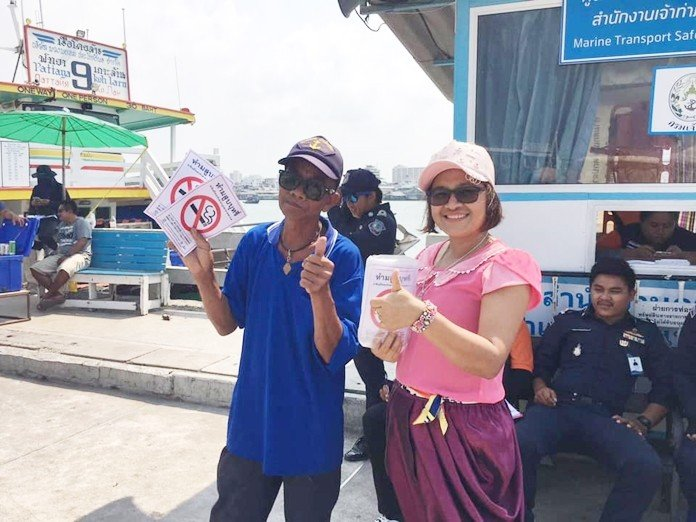 Bali Hai gets more 'no smoking' signs. The Public Health Department continues to educate Pattaya residents and tourists about expanded no-smoking