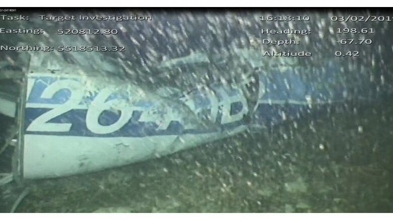 Body in Channel wreckage identified as footballer Sala. Portland, United Kingdom - A body recovered from the submerged wreckage of a plane