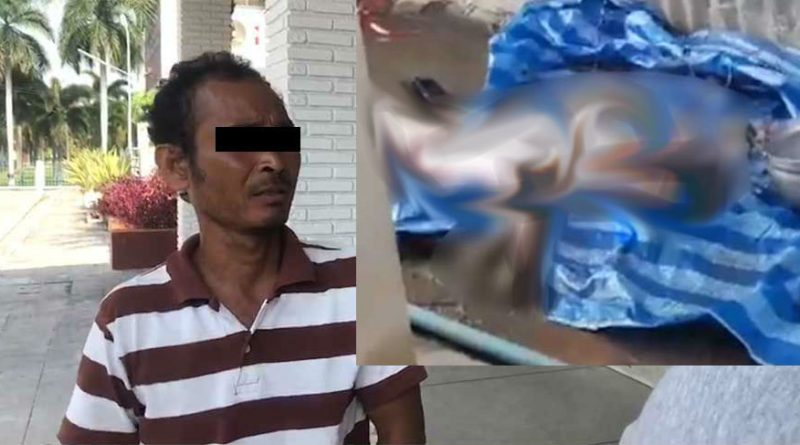 Cambodian man caught killing a stray dog for food in Chonburi.