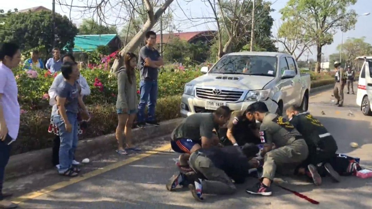 Elderly woman with amnesia killed in Nong Khai road accident. An elderly woman suffering from amnesia was killed while crossing a road in Nong Khai'