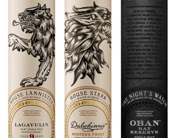HBO releases limited-edition Game Of Thrones whiskey collection. The collection is inspired by world of Westeros and beyond, complementing the show's
