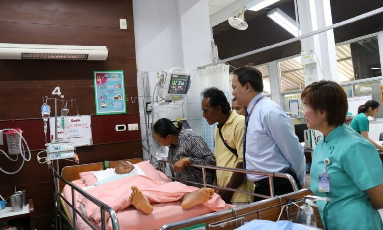His Majesty pays boy's medical costs after Phang Nga dog attack. His Majesty the King helped pay for medical care for a seven-year-old boy savaged by four