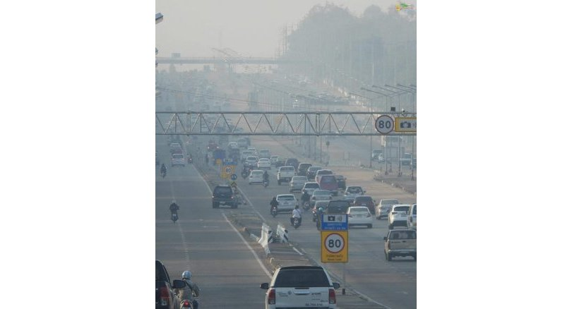 Khon Kaen choking while Bangkok relieved. Air pollution continued to choke northeastern Khon Kaen province on Wednesday with the Air Quality