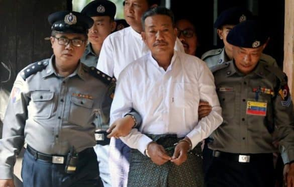 Myanmar sentences 2 to death in killing of Suu Kyi aide. A court in Myanmar sentenced two men to death on Friday for the killing of a prominent