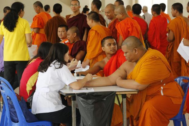 Obese monks urged to exercise amid health concerns – though weight training is banned. Overweight Thai monks are facing fresh calls to eat more