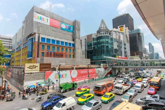 RATCHAPRASONG'S NEWEST MALL 'THE MARKET' OPENS ON V-DAY CentralWorld. Central Chidlom. Gaysorn Village. In case it lacked shopping opportunities,