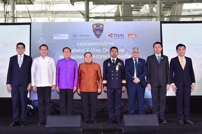 "Suvarnabhumi Airport unveils 'Thailand E-Visa On Arrival' Suvarnabhumi International Airport launched a ""Thailand E-Visa On Arrival"" campaign on"