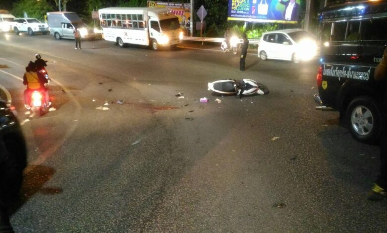 Two Russian tourists killed in Patong Hill crash. Two Russian tourists died following a crash on Patong Hill on Sunday night.