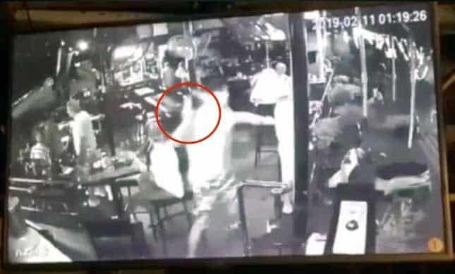 Australian/Scottish National attacks 71 year old fellow bar customer unsolicited with bottle from behind, arrested