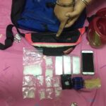 """Man arrested in Bangkok for 'holding drugs for a friend' A man was arrested with 66.03 grams of crystal meth or """"ice"""" and 1,200 methamphetamine pills"""