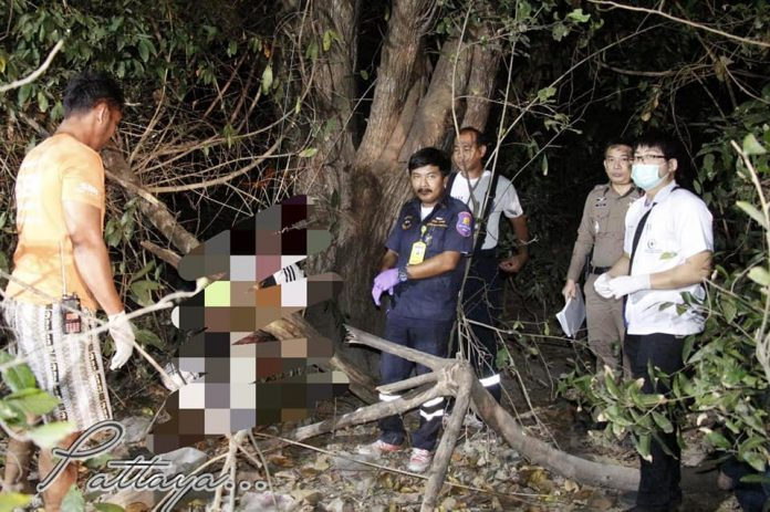 Mystery Foreigner found hanging in vacant forested area on Pratumnak Hill. Pattaya police were called on Monday of this week