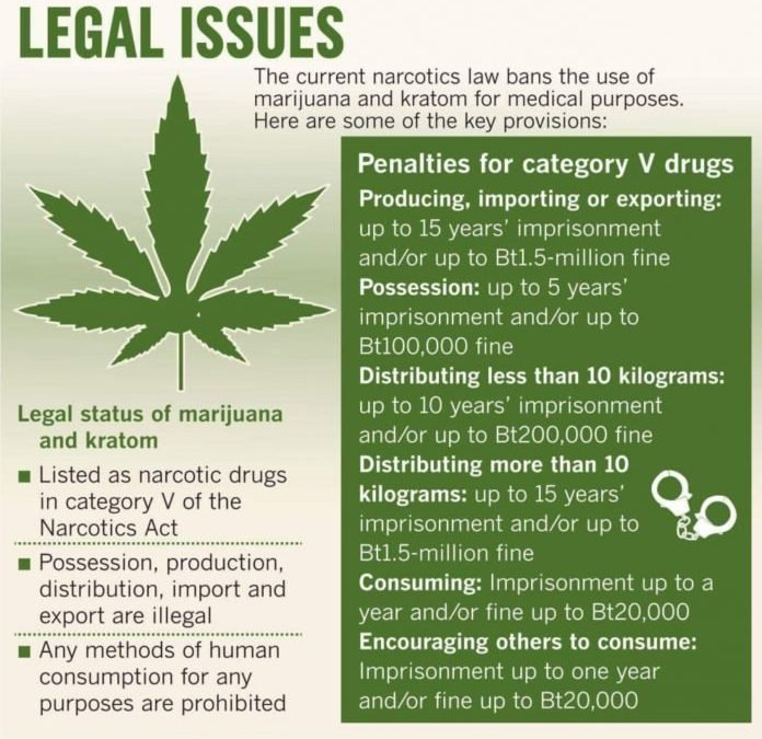 New Thai cannabis law but recreational use is still illegal. Tricky transition period for medical users