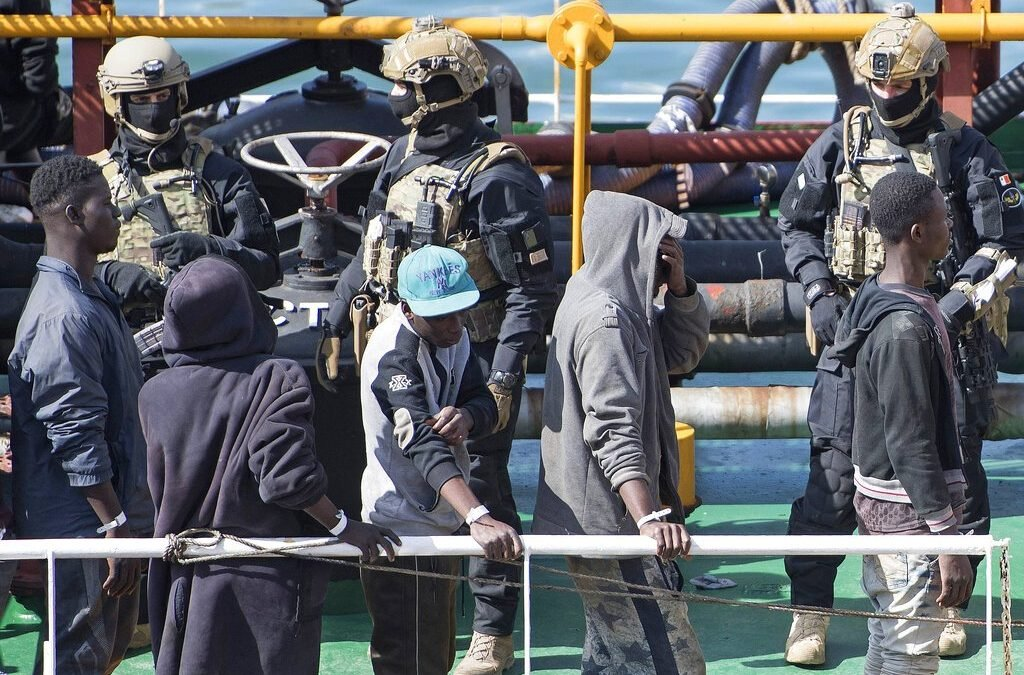 Rescued migrants safe in Europe after hijacking oil tanker