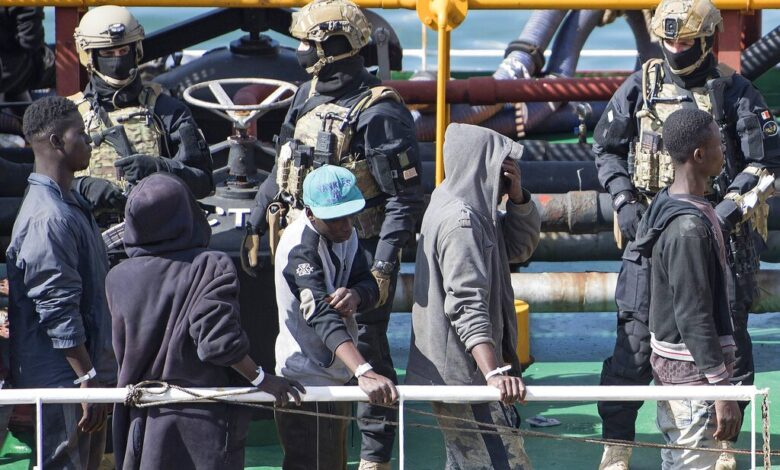 Rescued migrants safe in Europe after hijacking oil tanker. A group of migrants desperate not to go back to Libya made it safely to Europe on Thursday after