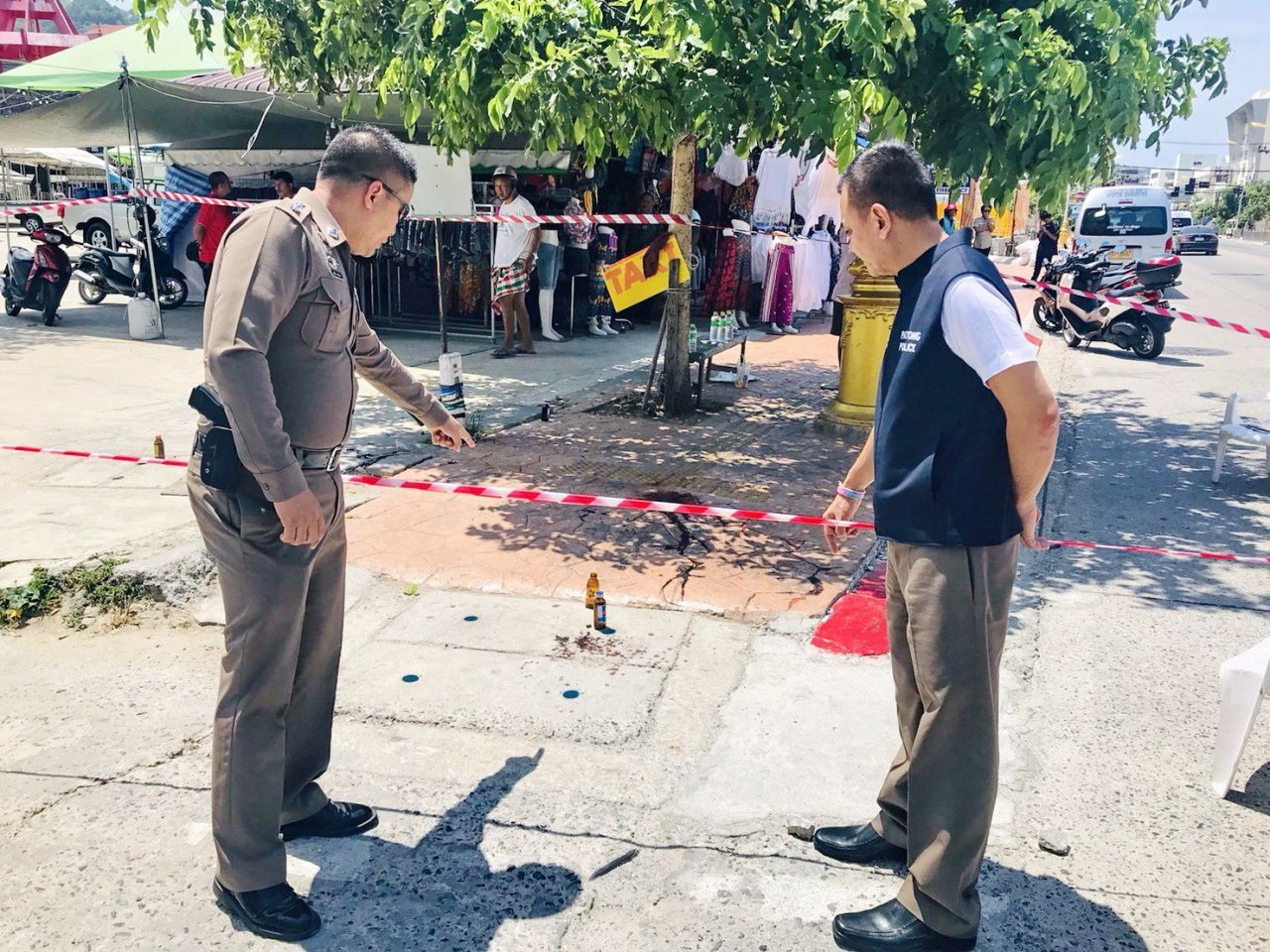 Taxi driver shot dead in Patong. A taxi driver was shot and killed in Patong on Thursday morning, apparently by a competitor over
