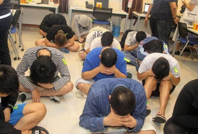 "Thai Officials nab 15 Japanese Nationals in Chonburi. Just after Midnight this morning, March 30th, 2019, ""Big Joke"" Surachate Hakparn personally"