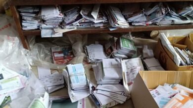 Thousands of letters discovered in postman's home. Thousands of letters were discovered in postman's home, the letters have been collecting