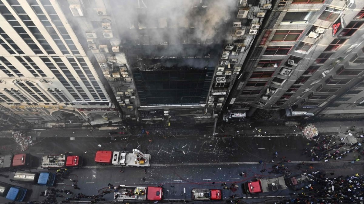 Workers jump to their deaths as Dhaka office block fire kills
