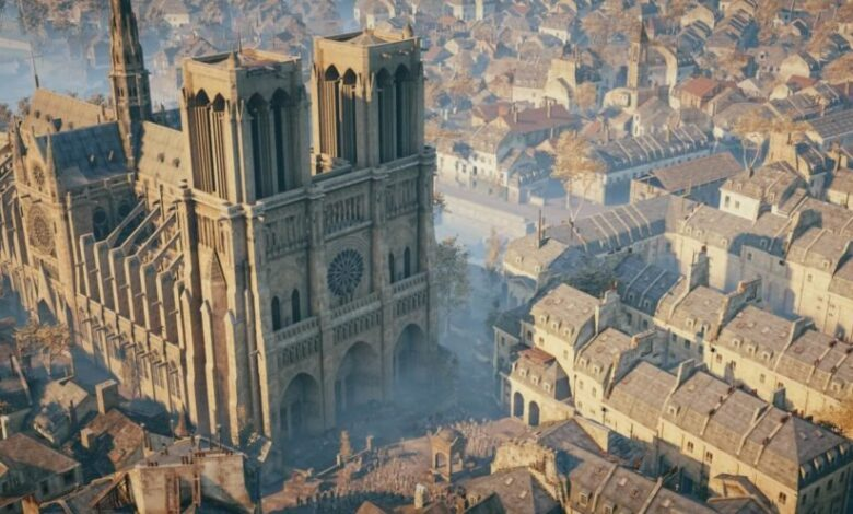 ASSASSIN'S CREED: UNITY WILL BE USED TO HELP REBUILD NOTRE DAME The iconic French building was on fire for hours, but plans to rebuild are already underway.
