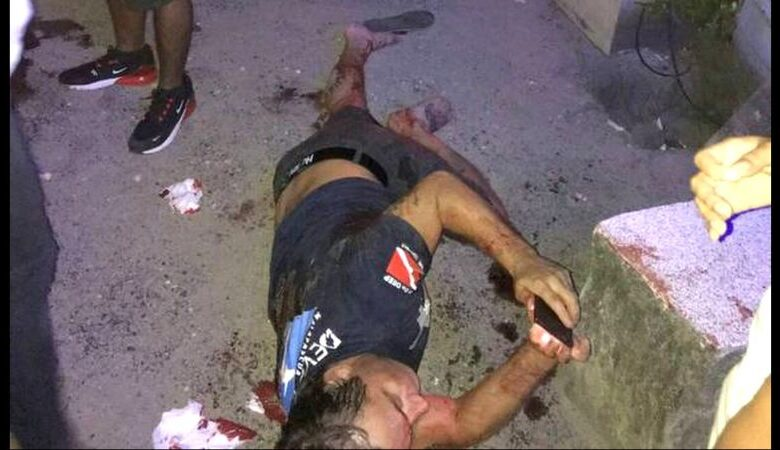 Australian stabbed 12 times trying to protect Thai woman An Australian man is recovering in hospital after he was stabbed multiple times following an