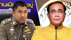 Big Joke ORDERED to hand in his police uniform Thai Rath reported in their headline that Big Joke had been told to hand in hispolice uniform.