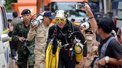 British Diver Rescued from Cave A British diver, who heroically saved young soccer players from a flooded cave in Thailand, had to be rescued