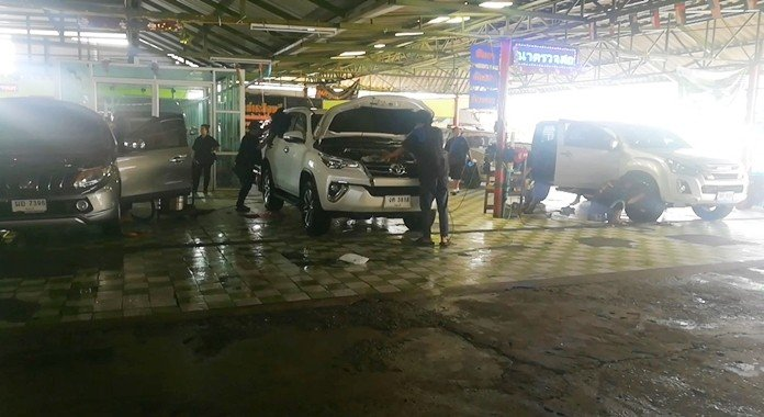 Car washes boom after Songkran