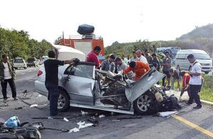 """Drink-driving the cause of most Thai accidents The number of road accidents saw a sharp increase on the third of the """"Seven Dangerous Days"""" of Songkran"""