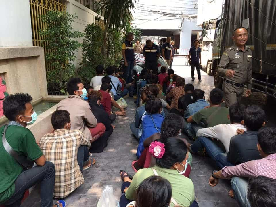 Four Thais arrested in migrant smuggling raid. Four Thais have been arrested as part of a major gang allegedly involved in smuggling illegal migrants into