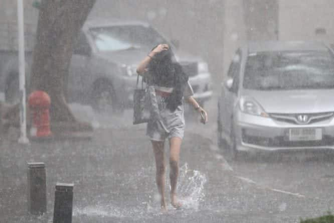 Heavy summer storms heading towards Thailand Weather forecasters have warned of summer storms with hail in the North, Northeast, Central Plain and East