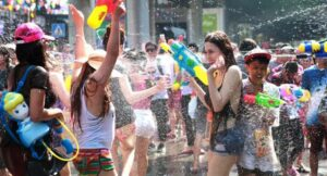 High-Pressure Water Guns, Ice and Using Dirty Water Banned from 2019 Songkran Festival. Pol Gen Chalermkiart Srivorakhan, deputy national police