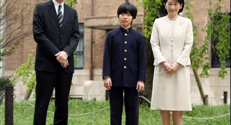 Knives found at Japanese prince's school desk