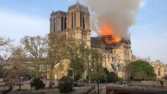The Notre Dame Cathedral In Paris Is On Fire We have a developing situation in Paris, The Notre Dame Cathedral in the heart of Paris is on fire.