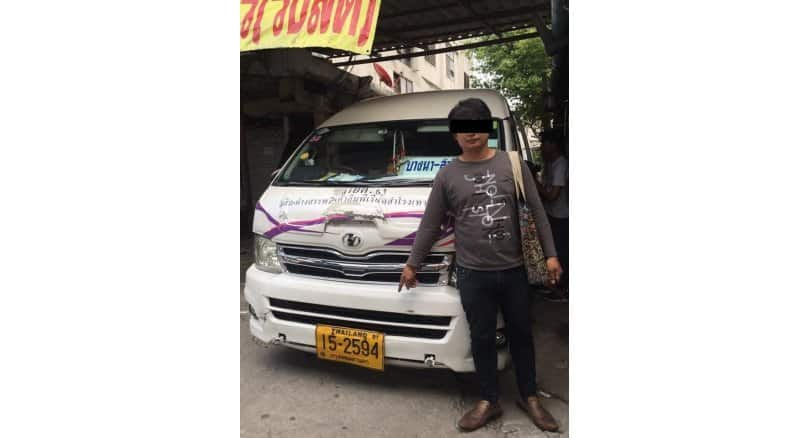 Passenger van driver fined for driving against traffic The driver of a passenger van has been fined Bt2,000 after being caught on a Facebook clip